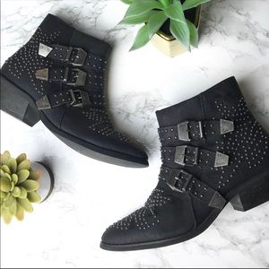 Cathy Jean Western Studded Buckle Boots